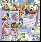 Календари перекидные на скрепке