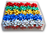 Бант звезда для подарка подарочной упаковки набор