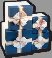 Коробки квадратные для подарков набор