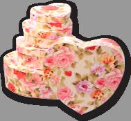 Коробки в виде сердца для подарков набор
