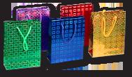Сумки пакеты бумажные голографические для подарков
