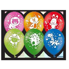 Воздушные шары круглые с детскими рисунками