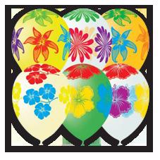 Воздушные шары круглые с рисунками оформленные