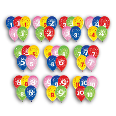 Воздушные шары круглые с разными цифрами года