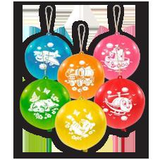 Воздушные шары круглые панч-боллы с рисунками
