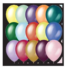 Воздушные шары круглые металлик блестящие