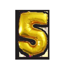 Фигурные воздушные шары в виде цифр для оформления