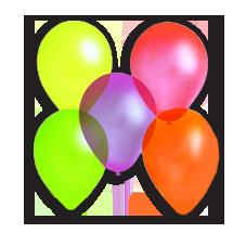 Воздушные шары флюорисцентные
