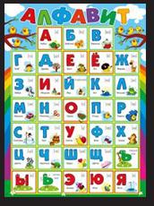 плакат обучающий для детей А2