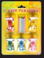 Набор фигурных свечей для торта для мальчиков