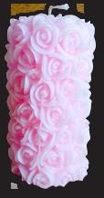 Свеча декоративная столбик с розочками