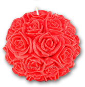 Свеча декоративная шар с розочками
