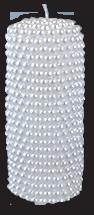 Свеча декоративная столбик с жемчужинами