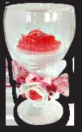 Свеча декоративная роза в фужере