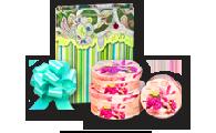 Подарочная упаковка, банты, ленты, пакеты