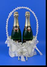 Свадебная корзиночка для шампанского