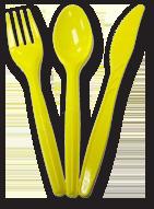 Набор столовых приборов ложка вилка нож