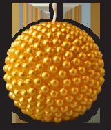 Свеча декоративная шар с жемчужинами