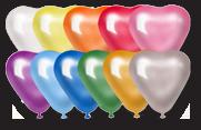 Воздушные шары в виде сердца с Днем Свадьбы