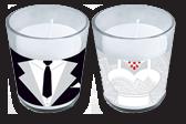 Набор свадебных свечей в подсвечнике
