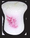 Свадебная свеча столбик из жемчужинок
