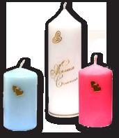 Свадебный набор свечей домашний очаг