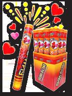 Свадебные пневмохлопушки с конфетти в виде сердечек