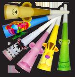 Горны дуделки трубы праздничные