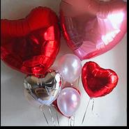 Воздушные шары фольгированные сердце 14 февраля